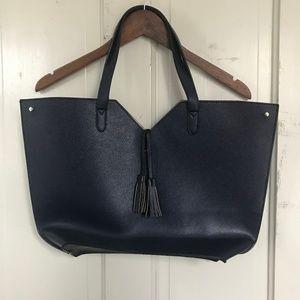 NWOT Neiman Marcus Tote, Navy Blue Large Handbag